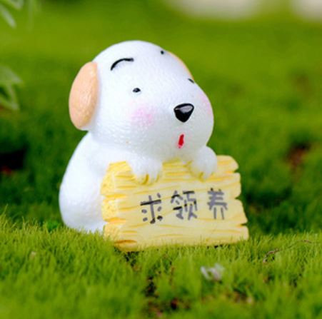 Dog For Adoption Figurine