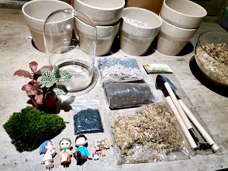 DIY Kit - Happy Family Cylinder Terrarium