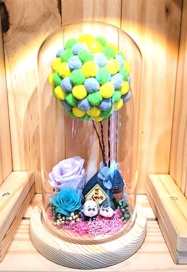 Up Themed Preserved Flower