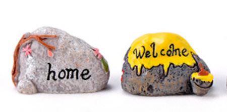 Welcome Stone Figurine