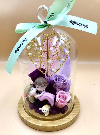 Wedding Bride and Groom Preserved Flower Arrangement