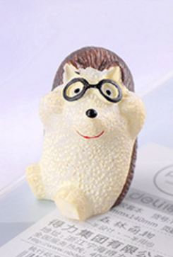 Hedgehog Wearing Specs Figurine