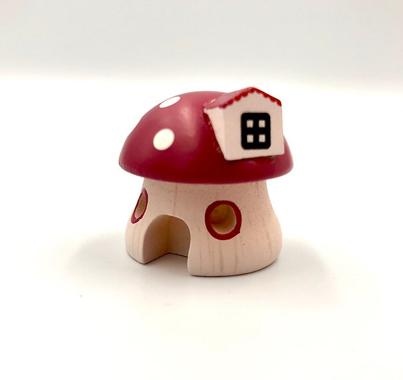 Wooderful Life Red Mushroom House Ornament