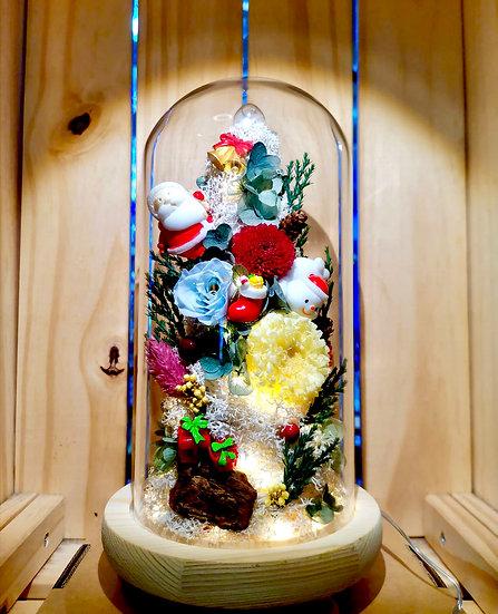 Santa Is Coming Preserved Flower Christmas Tree