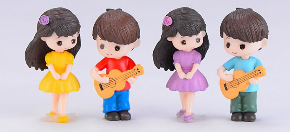 Guitar Couple Figurine