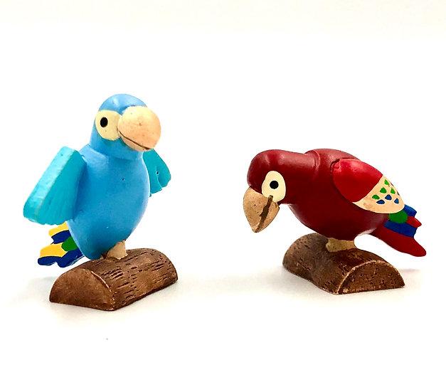 Wooderful Life Parrot Pair Ornament