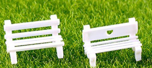 White Bench Figurine
