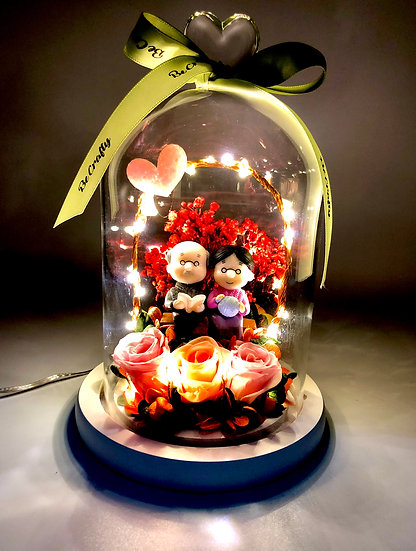 Lovely Gramps Preserved Flower Arrangement with LED