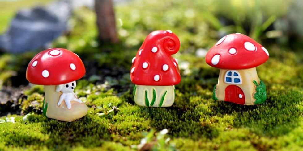 Mushroom Fairy House Figurine