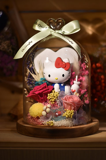Hello Kitty Preserved Flower Dome