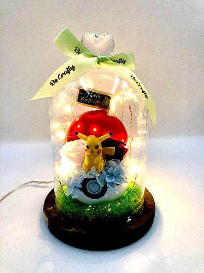 Pikachu Happy Birthday Preserved Flower Arrangement