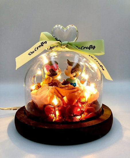 I Love You Cutie Preserved Flower Arrangement with LED