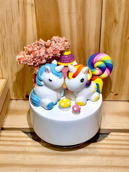 Unicorn Castle Music Box