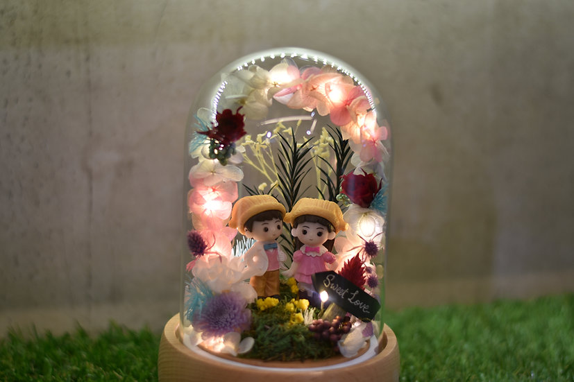 Let's Hold Hands Preserved Flower Music Dome with LED