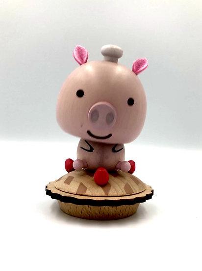 Wooderful Life Pig Bobblehead