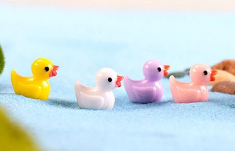 Colorful Duckling Figurine