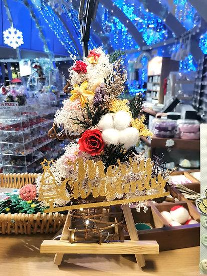 Winter Carol Christmas Tree Wreath with LED