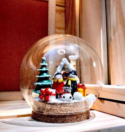 Christmas Warm Snow Globe