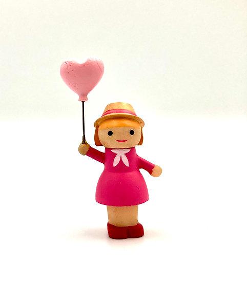 Wooderful Life Girl with Love Balloon