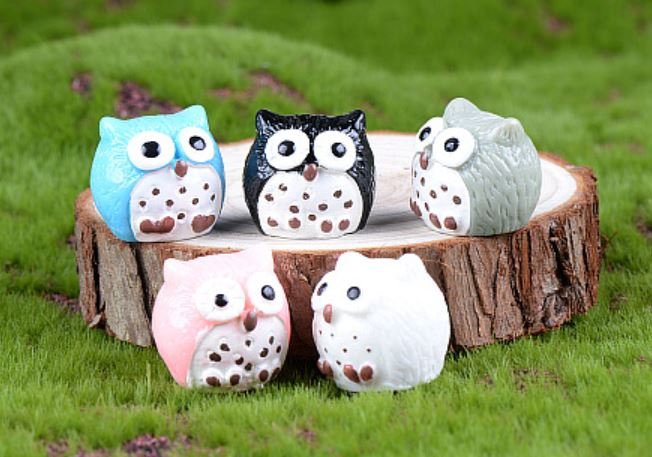 Colorful Owl Figurine