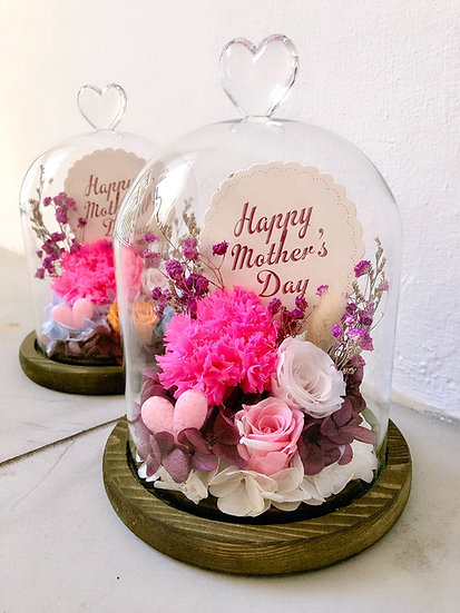 Warm Happy Mothers Day Preserved Flower Dome