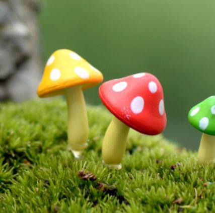 Thin Mushroom Figurine