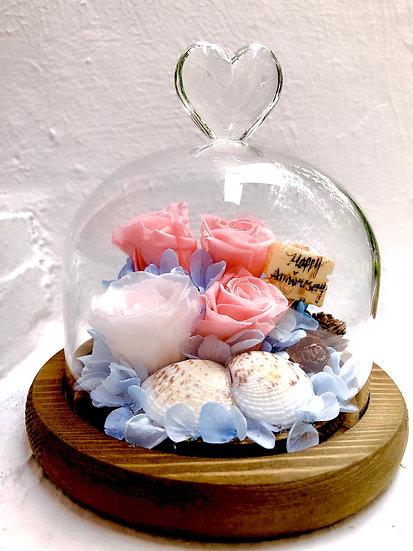 Seashells Happy Anniversary Preserved Flower Arrangement