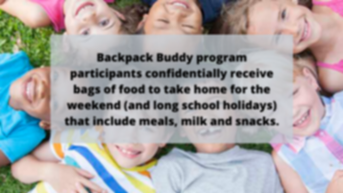 Backpack Buddy program participants conf