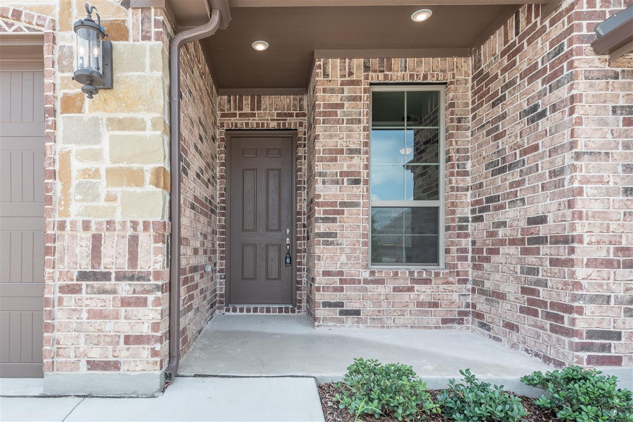 front door of new home in denton