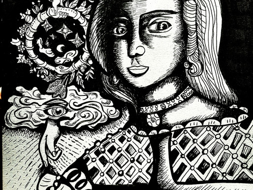 Dama e Alchimista Rinascimentale.