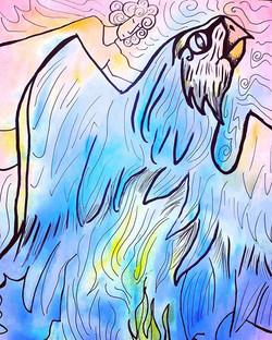 Dipinto dell'anima realizzato sui dati d