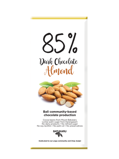 Almond Dark Chocolate 85% (50g)