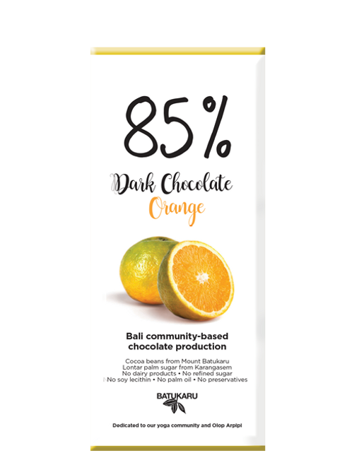 Orange Dark Chocolate 85% (50g)