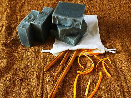 Handmade Cinnamon & Orange Soap (100g)