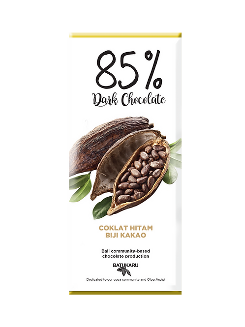 Crispy Cocoa Dark Chocolate 85% (50g)