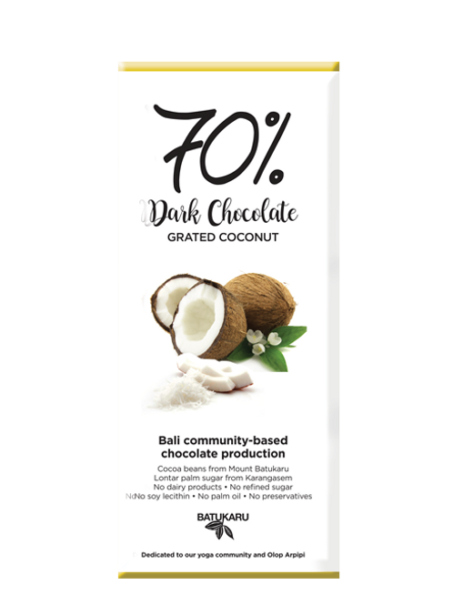 Grated Coconut Dark Chocolate 70% (50g)
