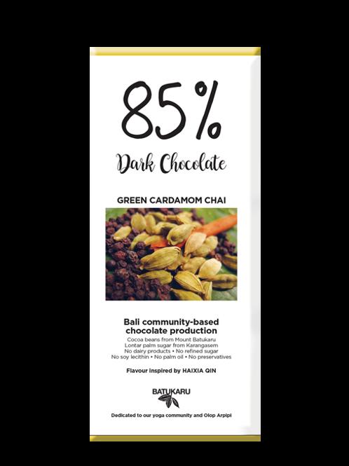 Green Cardamom Chai Dark Chocolate 85% (50g)