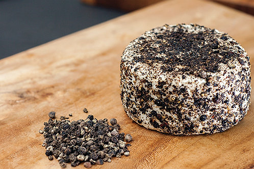 """Black Pepper"" Goat's Cheese - Keju Kambing ""Lada Hitam"" (±130g)"