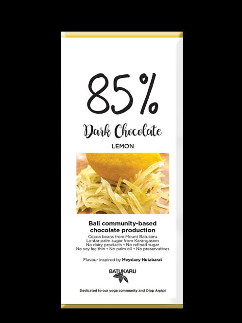 Lemon Dark Chocolate 85% (50g)