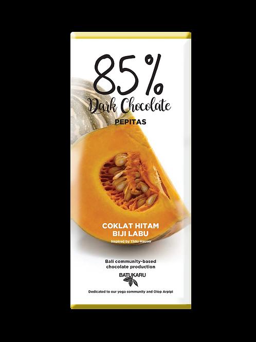 Pepitas Dark Chocolate 85% (50g)