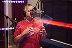 Bishop Filkey singing live at the recroding studio