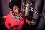 Kristle Murden singing in recording studio