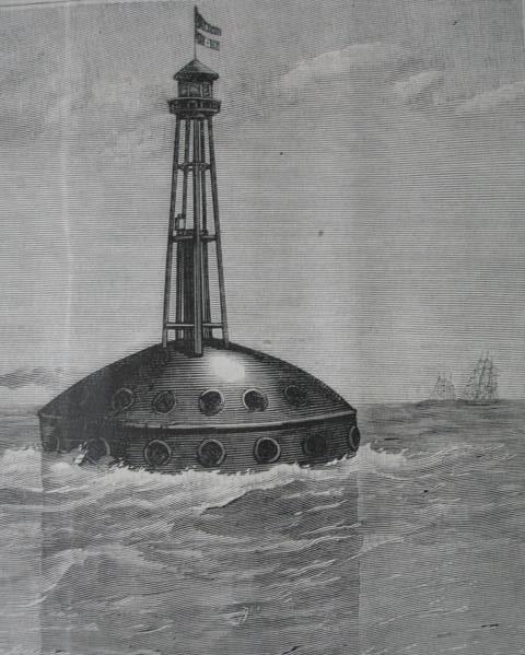 Poste flotante en medio del océano