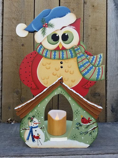 Winter Owl Candleholder