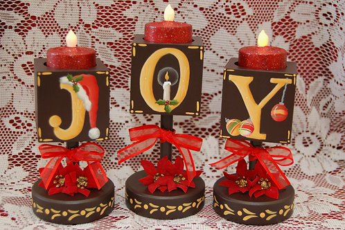 JOY Block Candle Trio