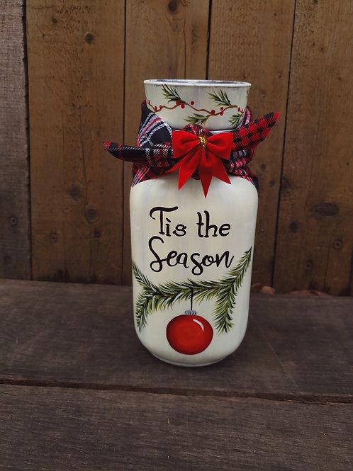 Tis the Season Candle Jar