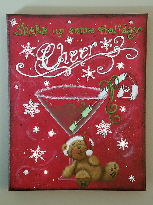 Cheer Lighted Canvas