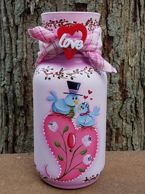 Love Birds Candle Jar