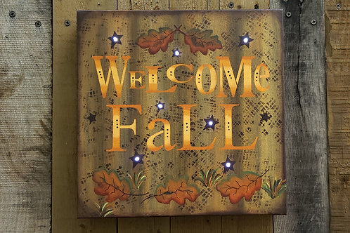 Welcome Fall Lighted Canvas