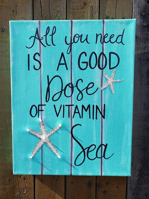 Vitamin Sea Lighted Canvas